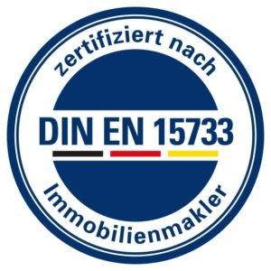Neubauer Immobilien ist zertifiziert nach DIN EN 15733 für Immobilienmakler